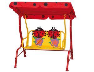 Siena Garden Marie Kinderschaukel, Hollywoodschaukel, Dach aus Polyester mit Käfermotiv