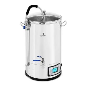 Royal Catering Braukessel - L - 2.500 W - ° C - Edelstahl - Anzeige - Timer - Royal Catering
