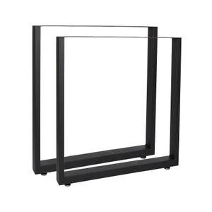 Tischkufen 60x72 cm schwarz pulverbeschichtet Tischgestell Tischbeine Tisch