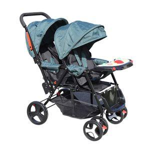 Kinderwagen Kombikinderwagen 3 in 1Komplettset Doppelkinderwagen Babywanne Stroller  Zwillingswagen Geschwisterwagen verstellbare Rückenlehnen