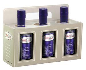 Geschenkbox 3x0,35L Crema Erdbeer, Feige, Haselnuß  3% Säure Manufaktur Qualität