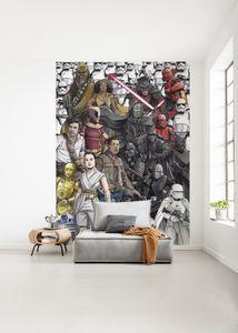 """Komar Vlies Fototapete """"Star Wars Retro Cartoon"""" - Größe: 200 x 280 cm (Breite x Höhe), 4 Bahnen"""