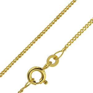 Weite Ankerkette 8 Karat 333 W GOLD 2 mm 42 cm Federring Goldkette Halskette