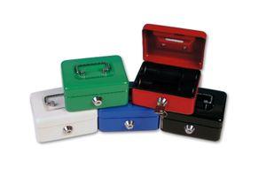 Mini Geldkassette / Größe: 125x95x60mm / Farbe: schwarz