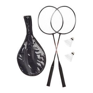 relaxdays Badmintonset mit Tasche