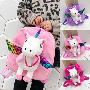 Einhorn Unicorn Plüsch Umhängetasche Kinderrucksack Kindergarten Rucksack Schultasche Rosa