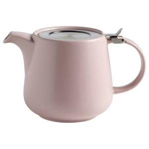 Maxwell & Williams Tint Teekanne, Tee Kanne, Servierkanne, Keramik / Edelstahl, Rosa, 1.2 L, AY0301