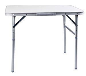 Camping Tisch Klapptisch Zusammenklappbar mit Tragegriff 75 x 55 x 70 cm - Kompakt Gartentisch Camping Garten Tisch - Weis