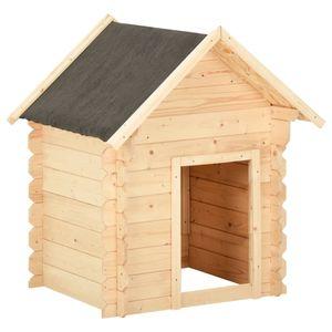 Perfekt® Hundehütte,Outdoor Hundehaus für große Hunde,Platz für ein Hundebett, 150x80x100 cm Massivholz Kiefer 14 mm🍹6102