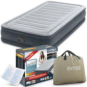 INTEX Luftbett 67766 Twin 99 x 191 x 33 cm eingebaute Pumpe Fiber Tech™ Technology