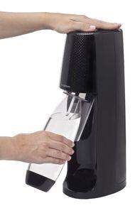 Sodastream Wassersprudler EASY  incl. PET-Flasche 1 l und 1 Co²-Kohlensäurezylinder, Schwarz