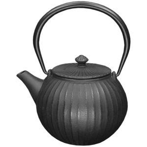 Orange85 Gusseiserne Teekanne 1.1L Kugelförmiges Streifendesign