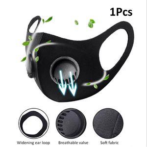 1PC belueftend dreidimensionale Schwammmaske, staub- und staubdicht, wiederverwendbare, waschbare Maske mit Atemventil, Doppelventil