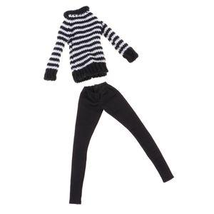 1 Stück Puppe Pullover , 1 Stück Puppe Lederhose , Schwarz wie beschrieben Barbie Winterkleidung