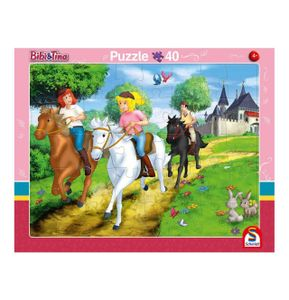 Schmidt Spiele 56795 Rahmenpuzzle Bibi und Tina 24 Teile / 40 Teile