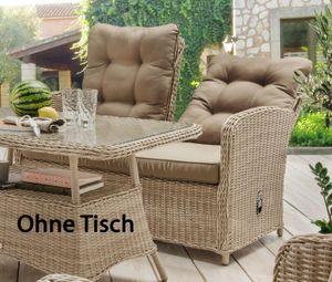 Destiny 2er Gartenbank Merano Relax Vario Pearl Shell Loungesofa Sofa - Ohne Tisch -