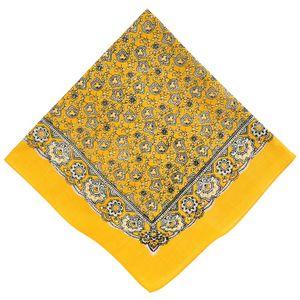Betz Nickituch Bandana Halstuch mit klassischem Paisleymuster 55x55 cm, ,gelb