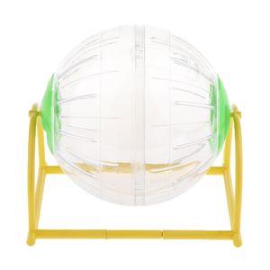 Hamsterball 15cm Laufball Laufkugel Laufrad Mäuseball mit Ständer Grün wie beschrieben