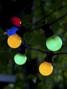 Sirius Party-Lichterkette Lucas Startset 10 LED bunt outdoor 3m schwarz