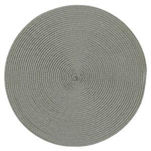 Platzset Polypro Grau rund ca. 35 cm Ø abwaschbar Tischset Platzdeckchen