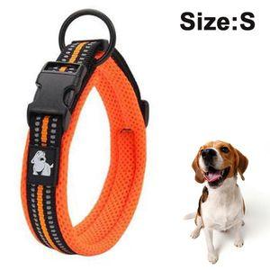 Hundehalsband, Hundehalsband aus Nylon, Reflektierend Halsband Hund mit Weich Neopren Gepolstert für Welpen Kleine Mittel Große Hunde