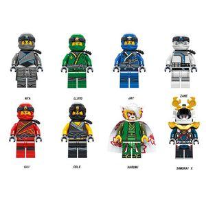 CUIFULI 8 Stk Ninjago Mini Figures Kai Jay NYA Sensei Wu Kinder Building Blocks Toys Sonstige Spielzeugfiguren