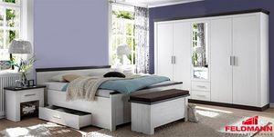 Schlafzimmer komplett Siena 4-teilig pinie weiß / wenge