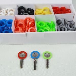 24pcs Schlüsselkennringe / Schlüsselkappen für runde Schlüssel, Mehrfarbig gemischt