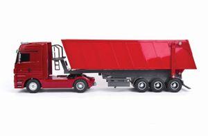 Siva Ferngesteuerter Truck Mercedes Benz Actros Kipplaster rot 1:32 40 MHz; 50081