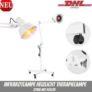 Infrarot Lampe Infrarotlampe Strahler Wärmelampe Rotlicht mit Rädern 275W Haushalt