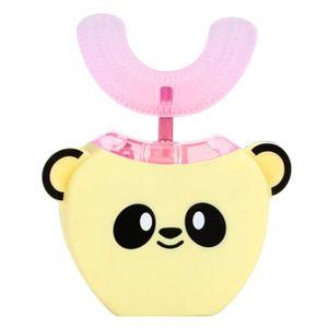 Kinder Elektrische Zahnbürste U-Form 360 Grad Mundreiniger mit automatischem Smart Timer Kaltlichtaufhellung fuer 3-7-Jaehrige