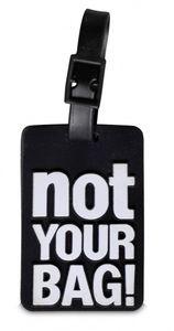 Fabrizio Kofferaufkleber NOT YOUR BAG! 7,5 x 5 cm schwarz 2 Stück