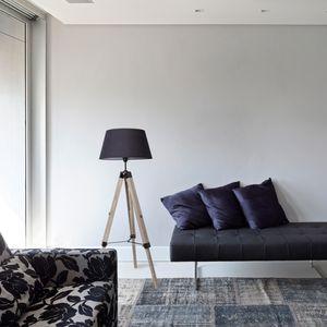 Tripod Stehlampe Dreibein Stehleuchte, Wohnzimmerlampe, Standleuchte für Wohnzimmer, Schlafzimmer E27 - Schwarz