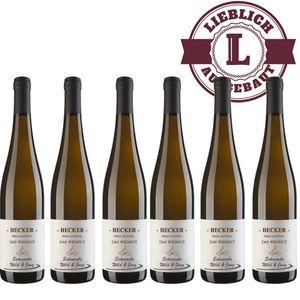 Weißwein Rheinhessen Weingut Becker  Scheurebe   lieblich (6 x 0,75 l)