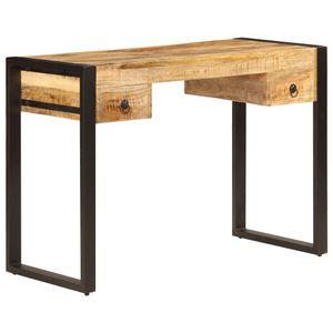 anlund Schreibtisch mit 2 Schubladen 110 x 50 x 77 cm Mangoholz Massiv