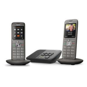 Gigaset CL660A Duo - Schnurlostelefon - Anrufbeantworter - 2 Mobilteile - Anthrazitgrau