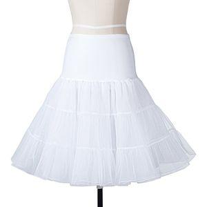 BOOLAVARD Wedding bridal 1950 Petticoat Reifrock Unterrock Underskirt Crinoline für Rockabilly Kleid (White L/XL)
