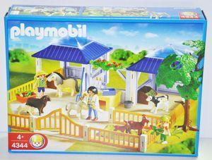 PLAYMOBIL 4344 Tierpflegestation Mit Freigehege Tiere Unterstände Pflegestation