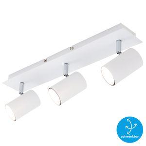 Deckenspot schwenkbar Deckenlampe 3xGU10 40W Weiß Metall Briloner Leuchten