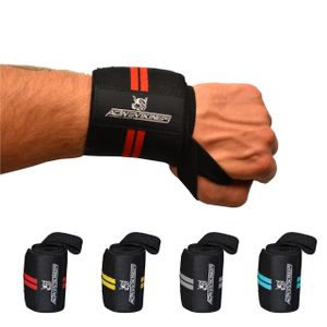 ActiveVikings® Handgelenk Bandagen - Ideale Handgelenkbandagen für Fitness, Crossfit, Bodybuilding und Kraftsport - Für Frauen und Männer (Schwarz - Rot)