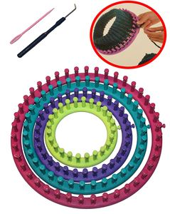 Strickring Strick Rahmen rund zum stricken 6 teilig Durchmesser 29 cm, 24 cm, 19 cm, 14 cm verschiedene Farben
