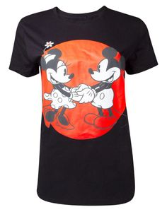 Disney - Mickey Mouse - Love Unisex T-shirt - M - Mickey Mouse TS328311MCK-M - (T-shirts and Tops / Short Sleeved T-shirts)