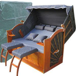 XXL Strandkorb ✔ 2,5 Sitzer ✔ anthrazit ✔ PE-Rattan