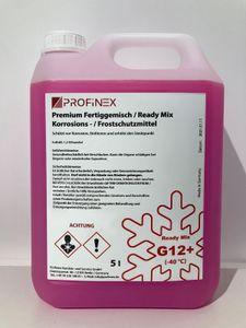 PROFINEX Kühlerfrostschutz G12+ 5L, ROSA ROT,  Ready Mix, Frostschutzmittel -40 C