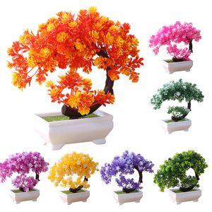 Simulation gefälschte Topf Bonsai Baum künstliche Pflanze Home Decor-(Lila)