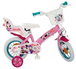 12 Zoll Disney Kinderfahrrad Kinder Mädchen Fahrrad Mädchenfahrrad Mädchenrad Kinderrad Rad MINNIE Mouse Maus Toimsa 611