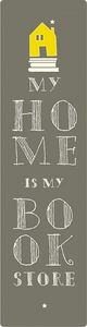 Moses Lesezeichen mit elastischen My Home 17,5 x 4,7 cm Taupe