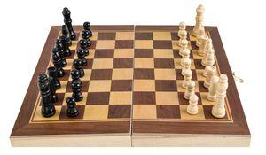 Schachkassette Schachspiel Reiseschach inkl.32 Spielfiguren Holzkassette Feld 30 mm Königshöhe 64 mm 4297