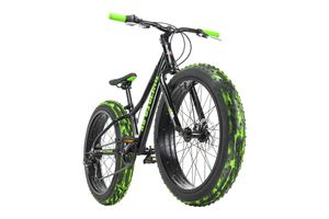 Jugendfahrrad Fatbike 24'' Crusher Schwarz RH 30 cm KS Cycling 152K