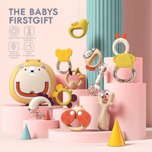 Baby-Rasseln, 6-12 Babyspielzeug, frühkindliches Lernspielzeug, Beißring, 10-teiliges Set
